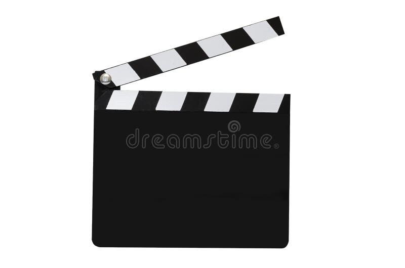 Assicella in bianco di film isolata fotografia stock