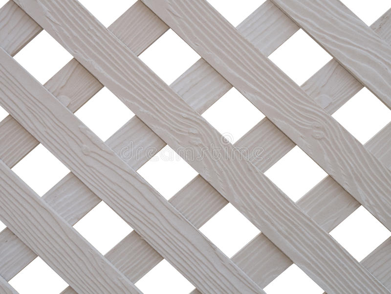 Assicella di legno bianca attraversata fotografia stock libera da diritti
