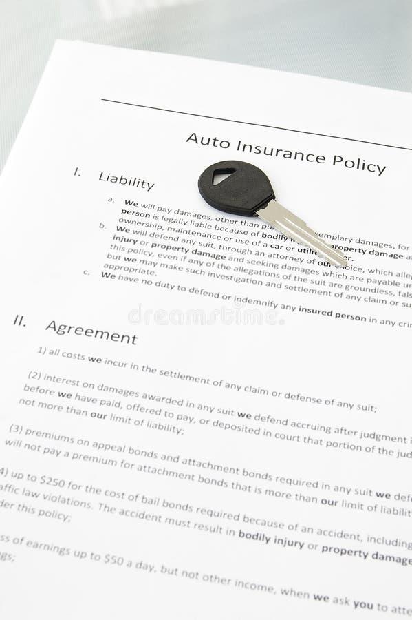 Assicurazione auto immagine stock