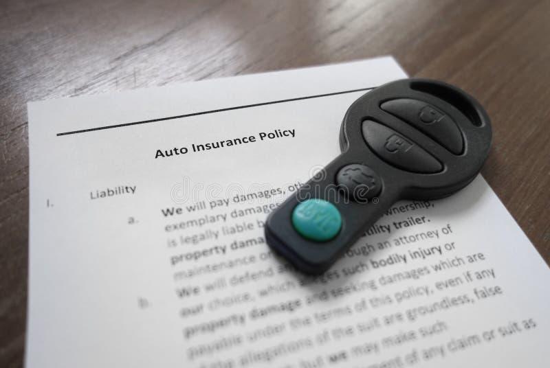 Assicurazione automatica immagine stock