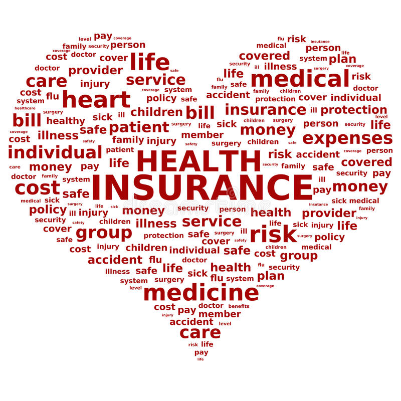 Assicurazione contro le malattie. illustrazione vettoriale