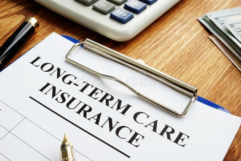 Assicurazione di cura a lungo termine LTC o LTCI fotografia stock libera da diritti