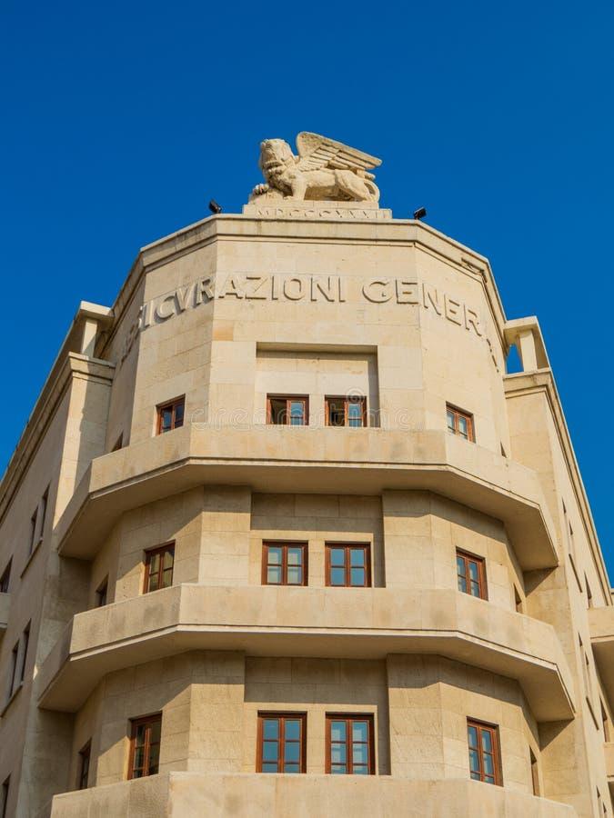Assicurazioni Generali byggnad i Beirut, Libanon arkivbild