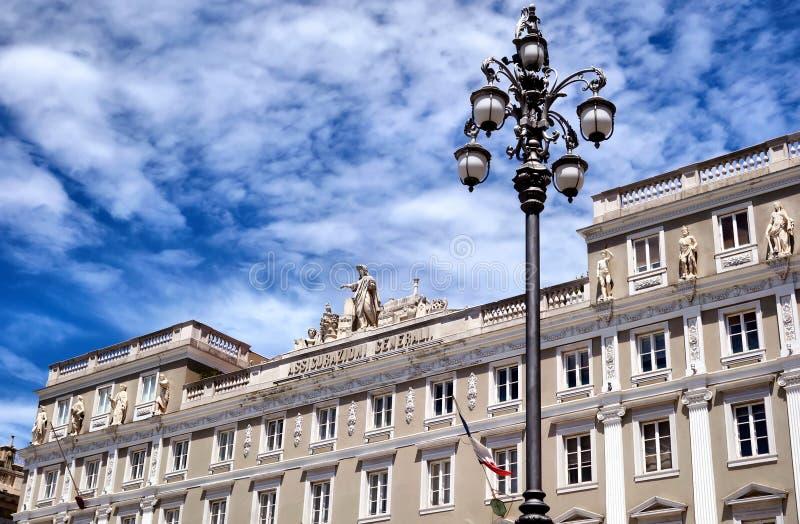 Assicurazioni Generali slott Trieste arkivbild