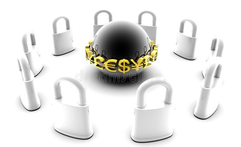 Assicuri i dati finanziari royalty illustrazione gratis