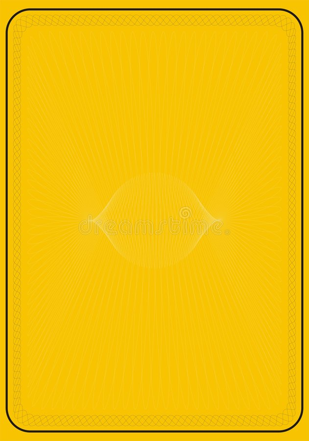Assicuri la priorità bassa gialla Borde illustrazione vettoriale