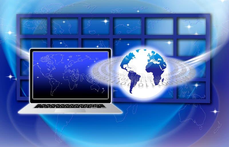 Assicuri la tecnologia dell'informazione globale illustrazione vettoriale