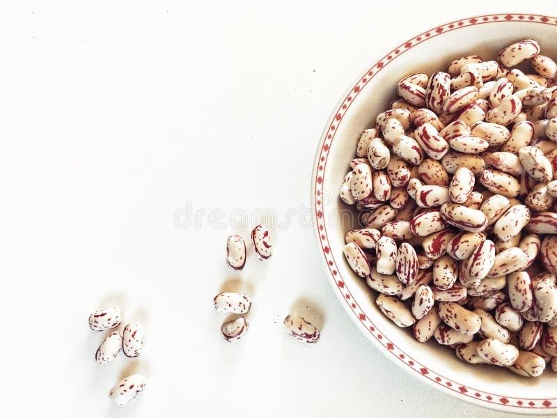 assiette de haricots frais comme ingrédient d'une recette végétarienne saine photo stock