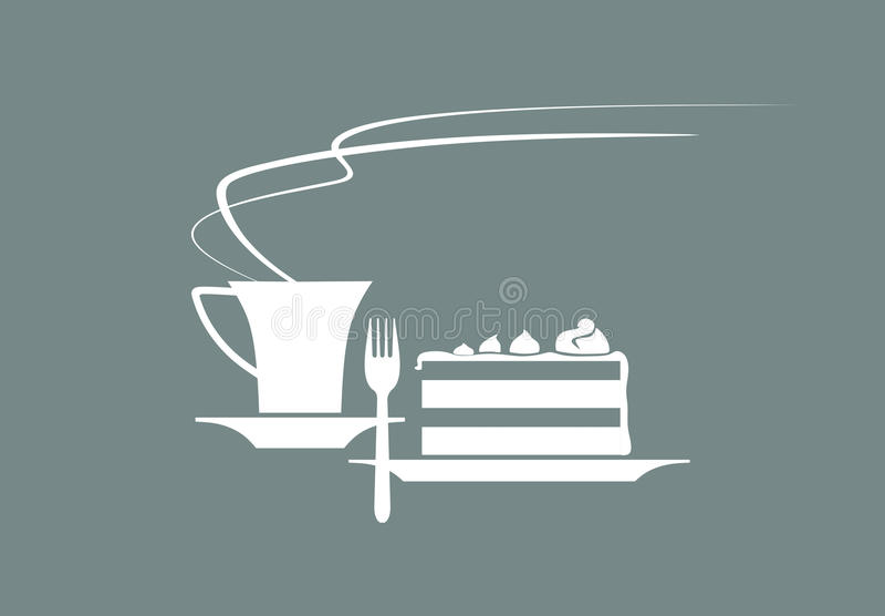 assiettes illustration de vecteur