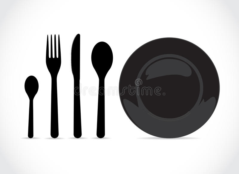 assiettes illustration stock
