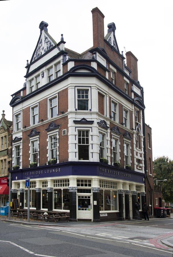 `Assignment files` pub near tower bridge royalty free stock photos