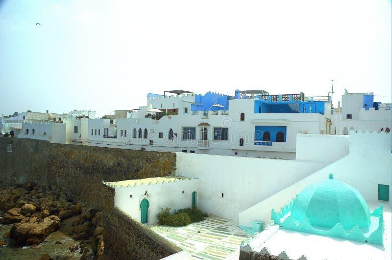 Assilah (kasba=fortification) royalty-vrije stock afbeeldingen