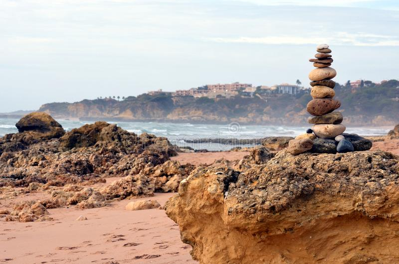 ` Assim chamado do sandman do ` na praia foto de stock royalty free