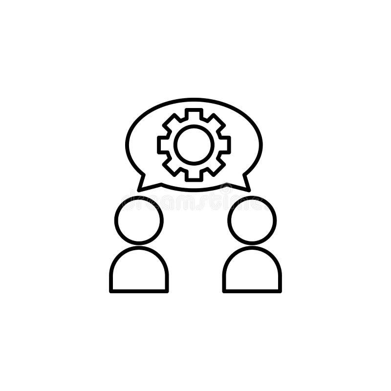 a assimilação, discute, ícone da opinião Elemento do problema e do ícone sociais dos refugiados Linha fina ícone para o projeto d ilustração stock