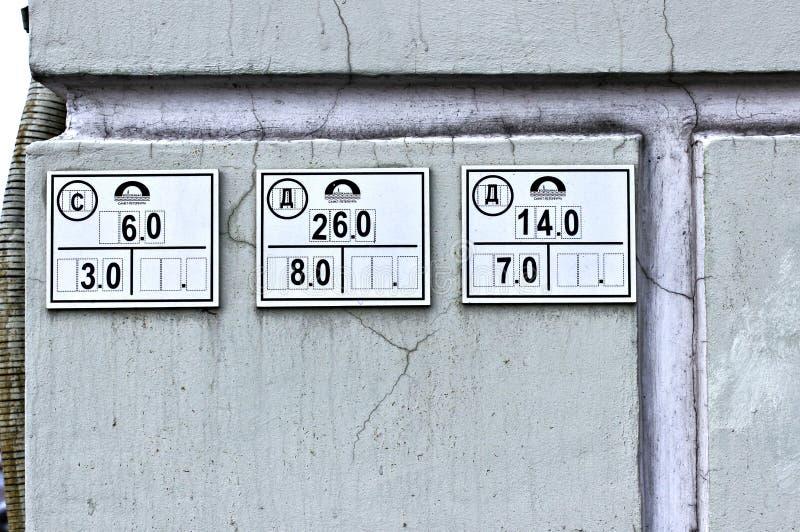 Assina poços de inspeção do lugar da rede dos indicadores foto de stock