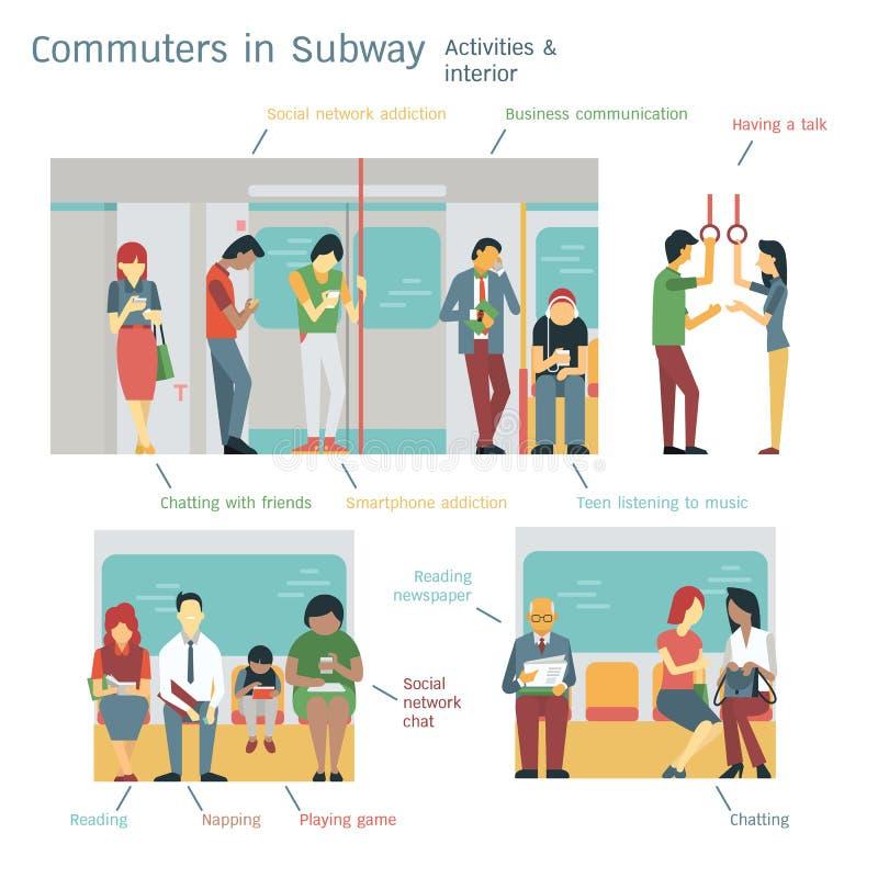 Assinantes do metro ilustração do vetor