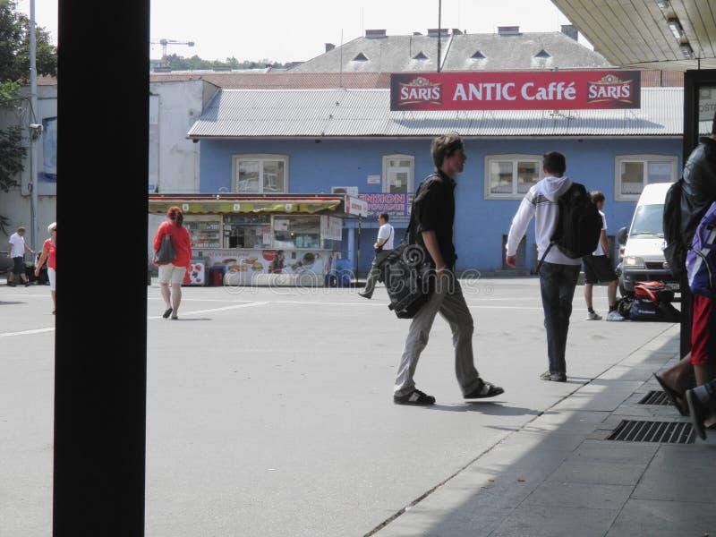 Assinantes em Bratislava imagens de stock