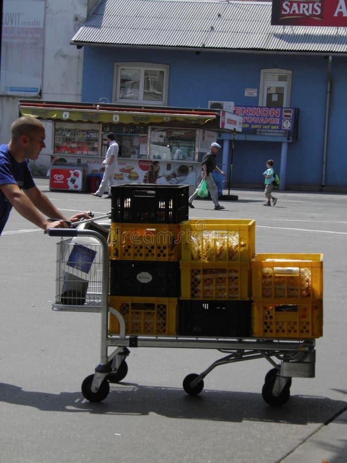 Assinantes em Bratislava foto de stock