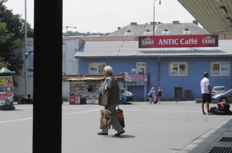 Assinantes em Bratislava fotografia de stock