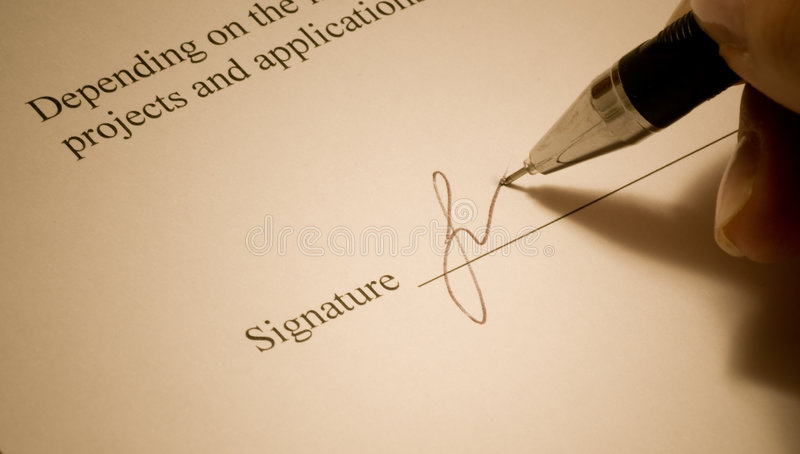 Assinatura. fotos de stock royalty free