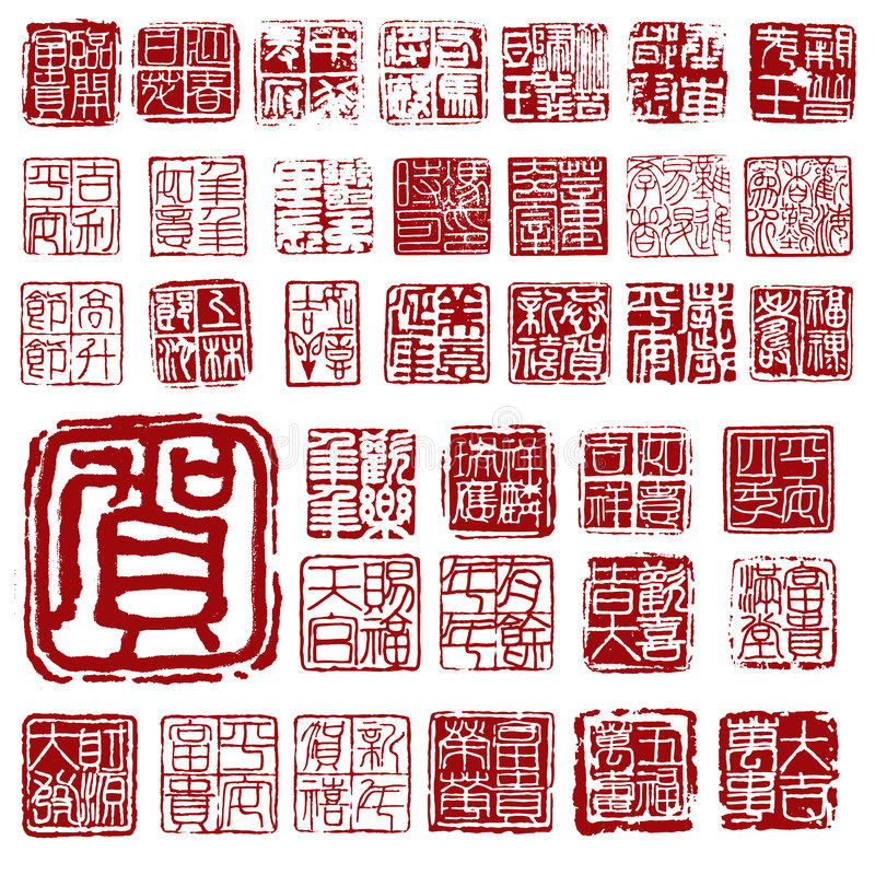 Assinatura chinesa ilustração do vetor