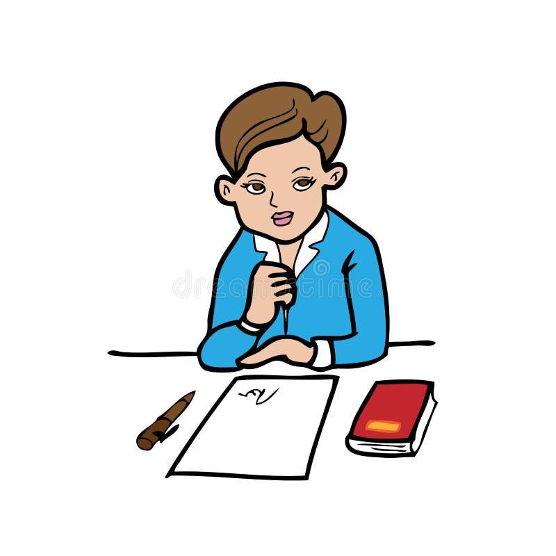 Assinatura da mulher ilustração do vetor