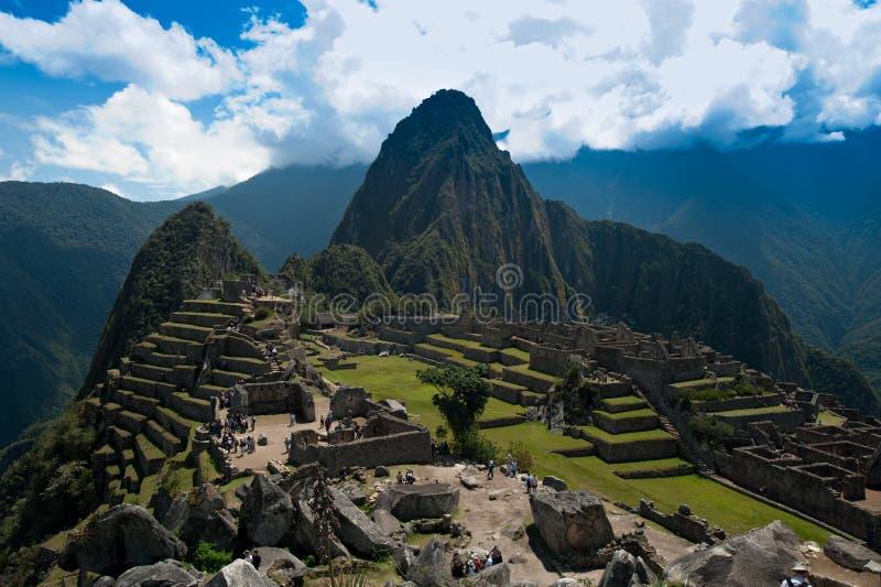 Assinatura disparada de Machu Picchu fotografia de stock royalty free