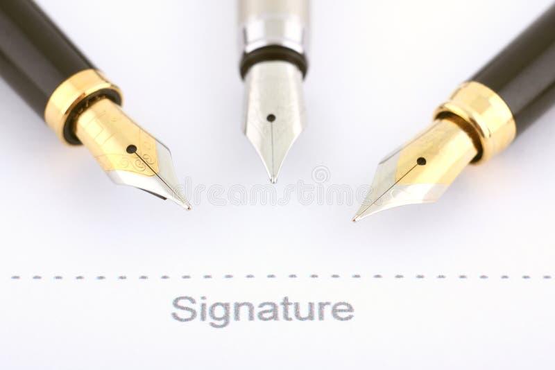 Assinatura do negócio imagens de stock royalty free