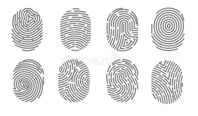 Assinatura eletrônica humana do sistema da autorização da impressão digital do acesso da segurança ilustração royalty free