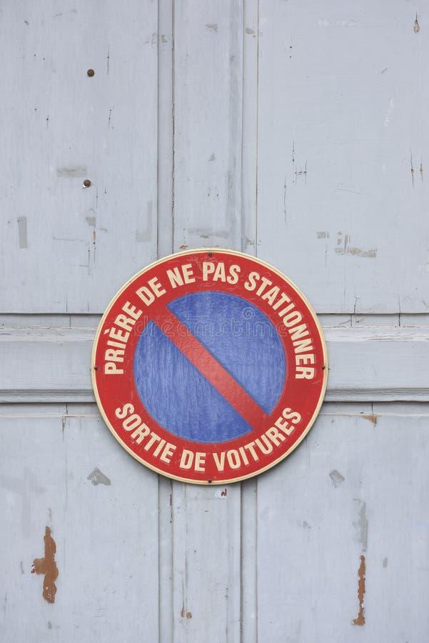 Assine dentro francês fotos de stock royalty free