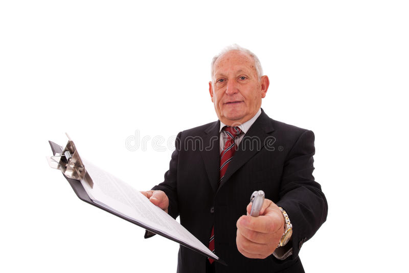 Assine este contrato, por favor fotos de stock royalty free
