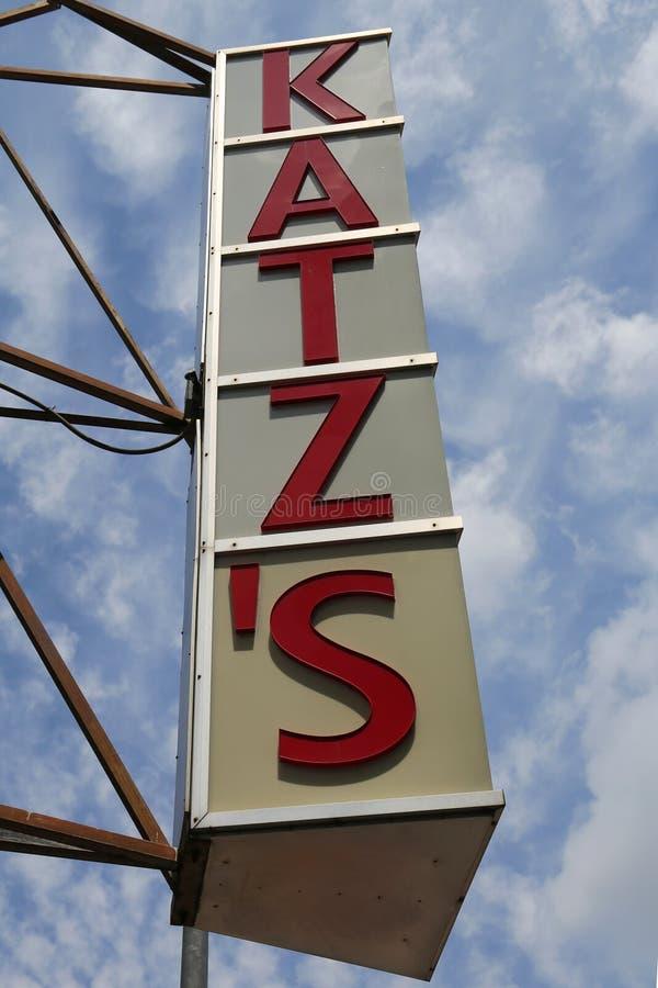 Assine para as guloseimas históricas do ` s de Katz imagem de stock royalty free