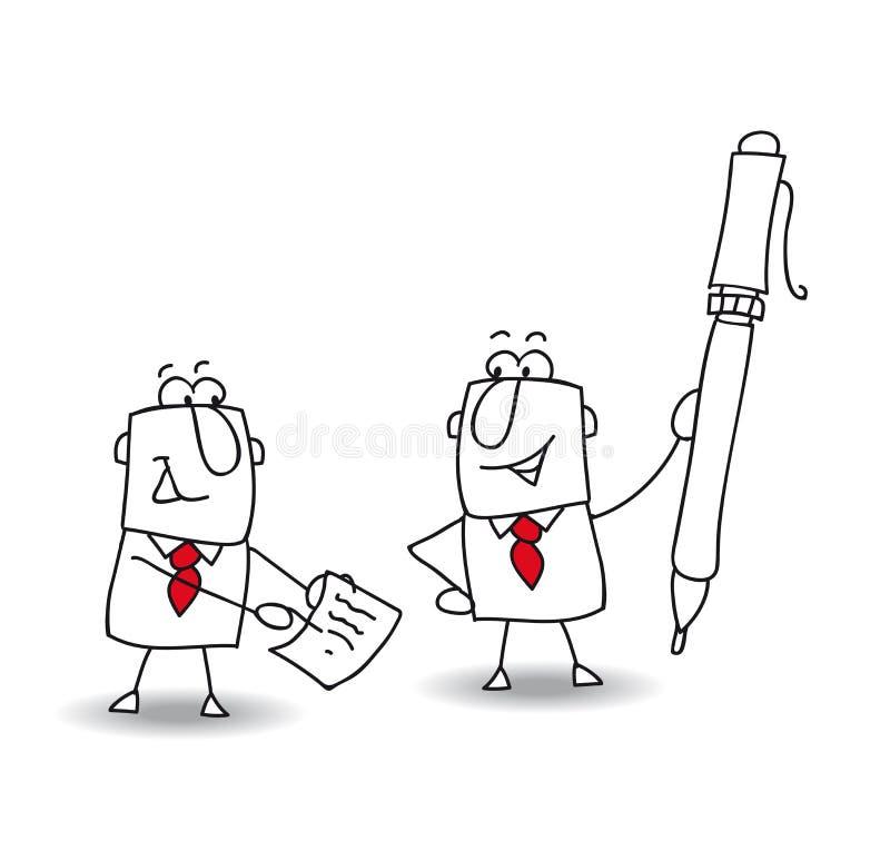 assine um contrato ilustração royalty free