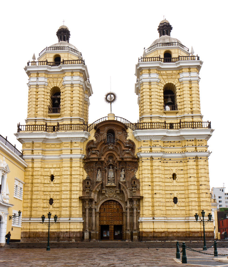 Iglesia de旧金山,利马 免版税库存照片
