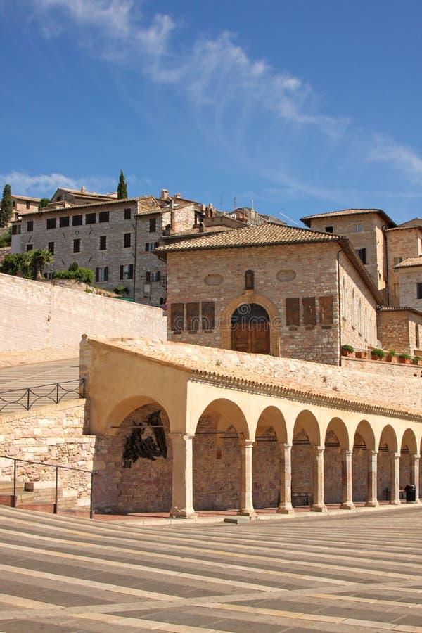 assisi城市意大利语 库存照片