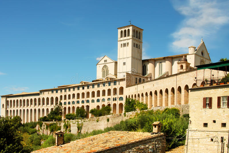 assisi城市francesco意大利修道院st 库存照片