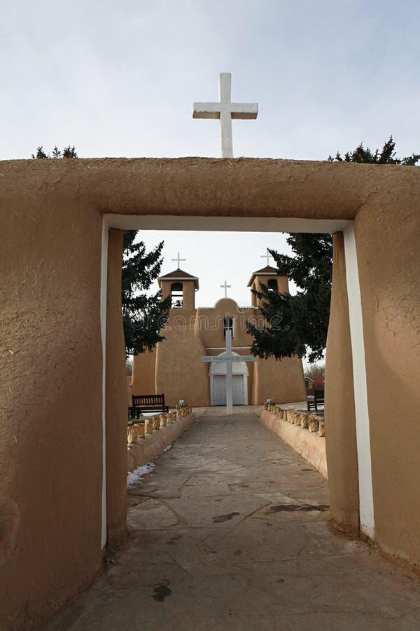 assisi教会弗朗西斯・墨西哥新的st taos 免版税图库摄影