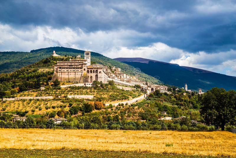 Assisi - επαρχία της Περούτζια, περιοχή της Ουμβρίας, της Ιταλίας στοκ εικόνες με δικαίωμα ελεύθερης χρήσης