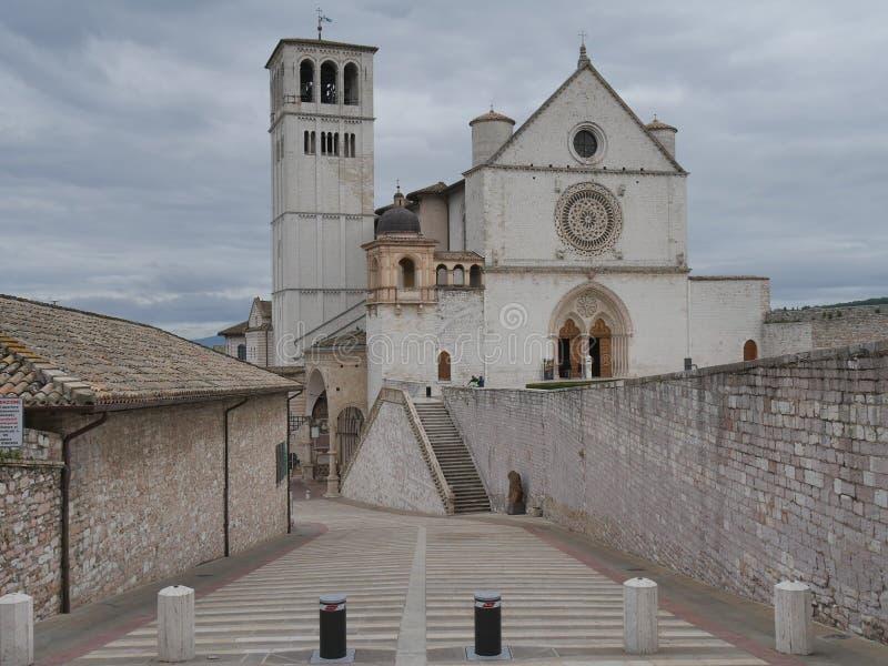 Assisi - базилика St Francesco стоковая фотография