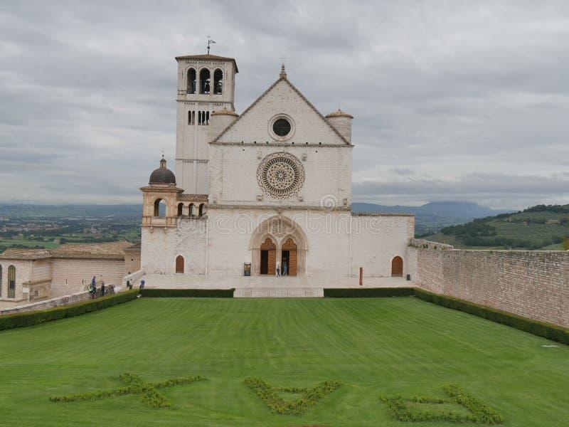Assisi - базилика St Francesco стоковая фотография rf