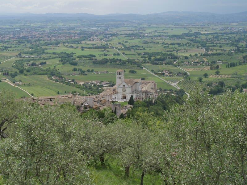 Assisi - базилика St Francesco стоковое фото rf