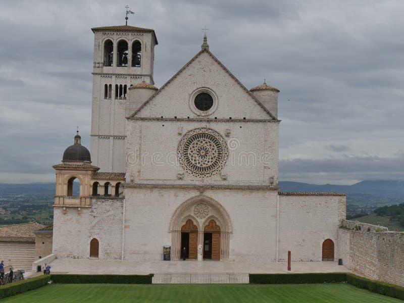 Assisi - базилика St Francesco стоковые фото