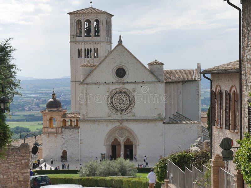 Assisi - базилика St Francesco стоковые изображения