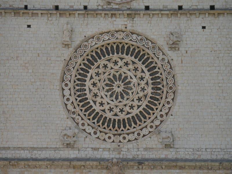 Assisi - базилика St Francesco стоковое изображение rf