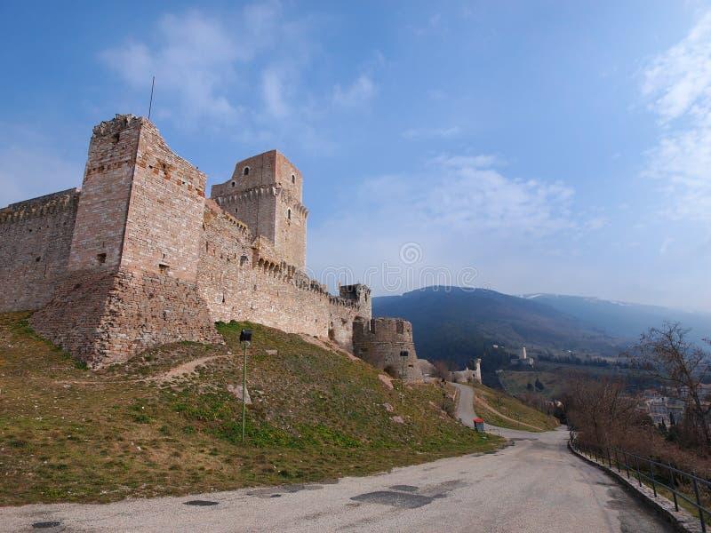 Замок Assisi, Италия стоковое фото