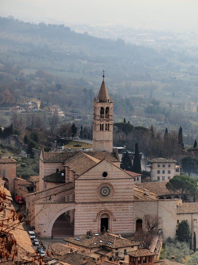 Di Santa Chiara базилики, Assisi, Италия стоковые фото