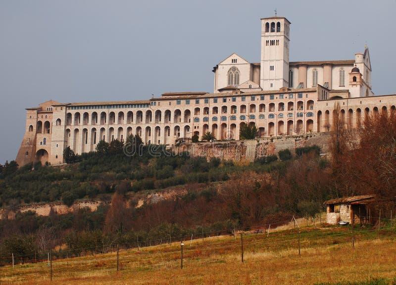 Базилика d'Assisi Сан Francesco, Италии стоковые фотографии rf
