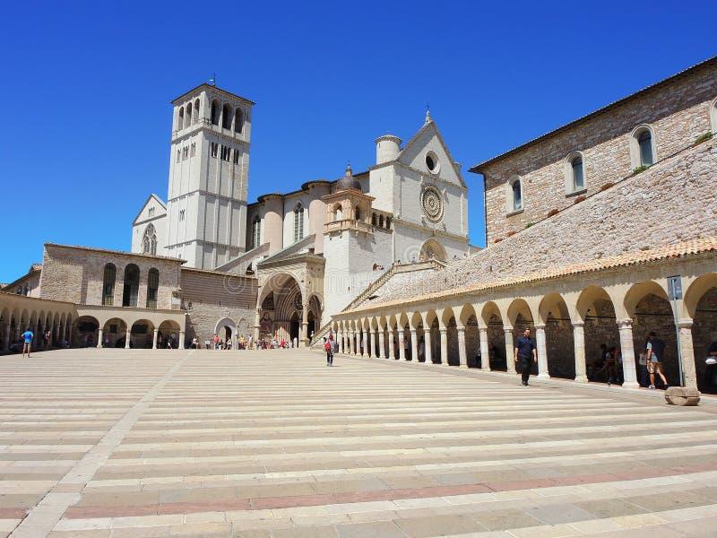 assisi Италия Базилика и священный монастырь Св.а Франциск Св. Франциск стоковое фото rf