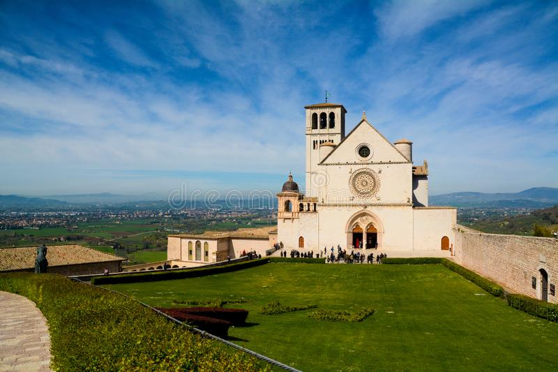 Assisi, Италия, базилика Св.а Франциск Св. Франциск стоковые фотографии rf