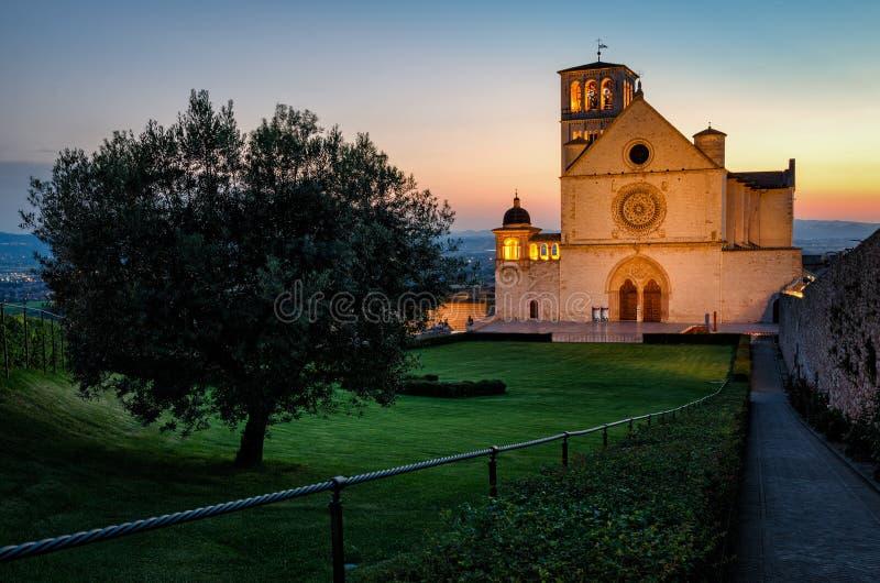 Assisi (Умбрия) Базилика di Сан Francesco стоковое фото rf